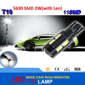 High Power LED Lens T10 5630 11SMD Canbus LED Lamp 2W with Len Auto Light Source Headlight Parking Driving Lamp Bulb DC 12V pictures & photos