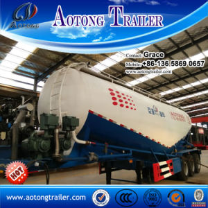 35m3 V Type Single Chamber Bulk Cement Tank Semi Trailer for Sale (volume optional) pictures & photos