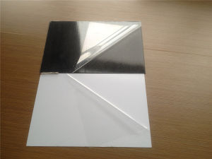 White and Black Color Adhesive PVC Photobook Sheet pictures & photos
