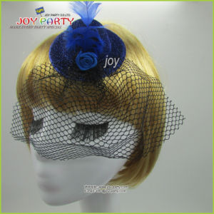 Blue Veil Hair Pin Lady Hat pictures & photos