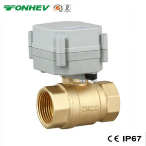 "1"" 2 Way Electric Actuator Brass Ball Water Valve (T25-B2-A) pictures & photos"