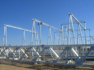 Substation Structure Transformer Steel Tower Pole pictures & photos