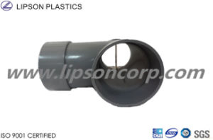Lipson Plastic Tee PVC Three Ways Tee Pipes Fittings Grey pictures & photos