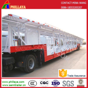 2 Axle Truck Tractor 6-8vehicle SUV Car Transporter Semi Trailer pictures & photos