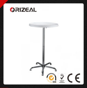 Orizeal World Cup 46-Inch-Tall Round Adjustable Bar Table with Plastic Top (Oz-T2024) pictures & photos