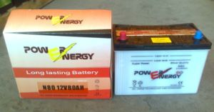 N80 12V80ah Dry Charged Lead Acid Car Battery pictures & photos