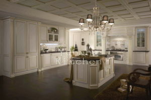 Solid Wood Kitchen Cabinet #223 pictures & photos