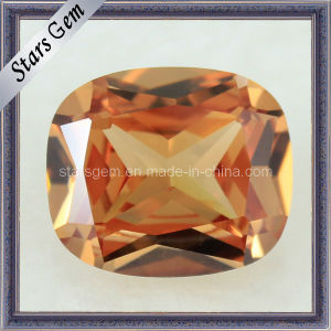 Synthetic Gemstone Rectangle Shape Cushion Champagne Cubic Zirconia pictures & photos