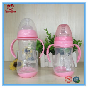 240ml Wide Neck Plastic Milk Bottles with Handle and Base pictures & photos