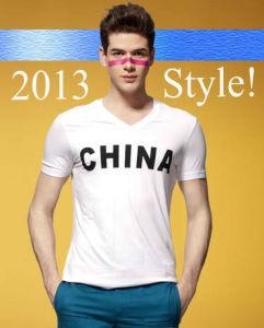 2016 New Style 100% Cotton Plain White Men T Shirts pictures & photos