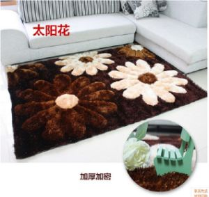 Stretch Wire Filaments 3D Encryption Sunflowers Carpet
