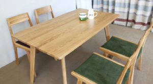 Oak Wood Dining Set Good Quality Restaurant Table with Chair (M-X1018) pictures & photos