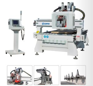 CNC Router with Boring Units(7+2+2, Vertical Drilling Bit-7PCS, Slider Cutter-2PCS, Saw-2PCS, Xe1325/1530/2030/2040 pictures & photos