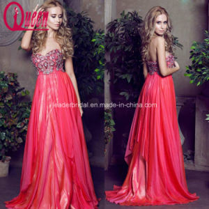 A-Line Prom Evening Gowns Chiffon Applique Ladies Party Dresses Z5027 pictures & photos
