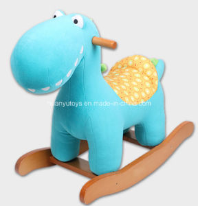 Factory Supply Rocking Horse Blue Dinosaur pictures & photos