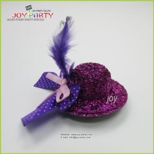 Purple Hair Clip Mini Hat pictures & photos