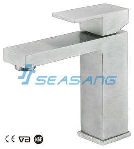 Lavatory Cabinet Stainless Steel Bathroom Basin Tap with Watermark Certificate pictures & photos