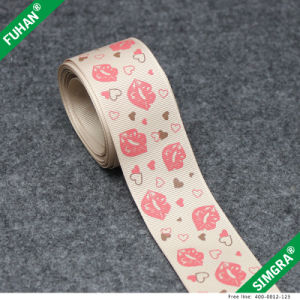 Custom Logo Packing in Roll Fashionable Grosgrain Ribbon pictures & photos