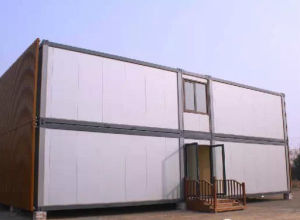 20FT Sandwich Panel Steel Structure Container House with Integrated Bathroom pictures & photos