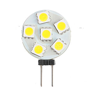 New 12V DC G4 Auto Bulb 6 5050 SMD LED Light Daywhite pictures & photos