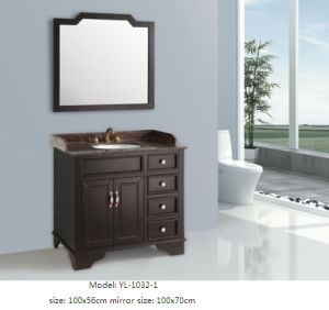 Bathroom Furniture with Mirror Wooden Vanity pictures & photos