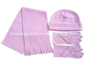 Promotion Polar Fleece Beanie/Glove/Scarf Set pictures & photos
