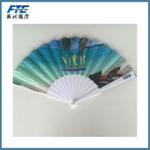 Polyester Hand Fan Colorful Fold up Fans pictures & photos