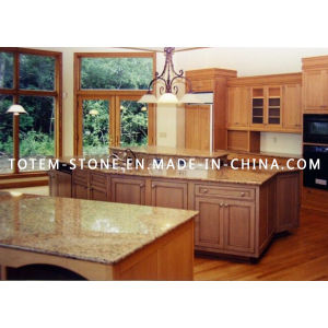Natural Granite Brazil Gold Kitchen Countertop with Bar Top pictures & photos