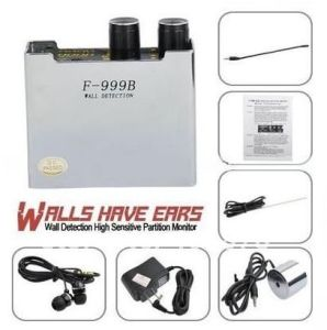 High Sensitive Wall Audio Detector Partition Voice Monitor Eavesdrop