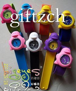 Penguin Children Silicon Slap on Wristwatch (SLAP0056)