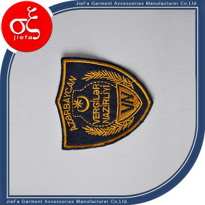 Manufacture Low Price Embroidery Badge with Heat Press pictures & photos