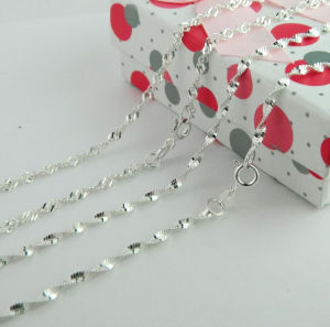 Sterling Silver Chain, 925 Silver Jewelry, Singapore Necklace pictures & photos