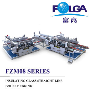Glass Straight Line Double Edging Machine (FZM08 Series) pictures & photos