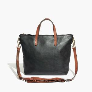 Contrast Color PU Shoulder Bag Women Shopping Abg pictures & photos