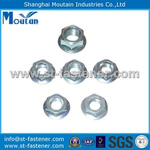 Carbon Steel Hex Flange Nuts with DIN6923 Zinc Plated