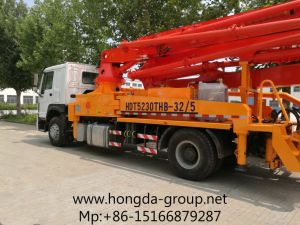 32m Hongda Concrete Pump with Boom pictures & photos
