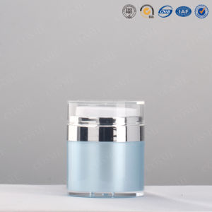 15g 30g 50g High Quality Plastic Acrylic Cosmetic Airless Pump Bottle with Push Button pictures & photos