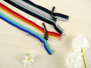 No. 5 Nylon Zipper Open End, Colored Tape (GY-1003) pictures & photos
