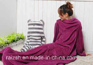 Cozy Fleece Blanket with Sleeves/Snuggie pictures & photos