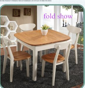 New Design Extendable Solid Wood Dining Furniture Table and Chairs Set
