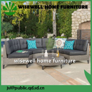 9PC Rattan Wicker Glass Dining Table with Chair Set (WXH-028) pictures & photos
