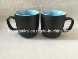Black Matte Mug, 10oz Two Tone Color Glazed Mug pictures & photos