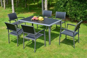 100% Plastic Wood for Outdoor Furniture Park Furniture with Table pictures & photos