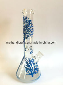 14 Inch Deep Sandblasted Simple and Straight Beaker Glass Water Pipes/Smoking Bon pictures & photos