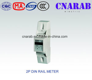 Single-Phase Two-Wire Electronic DIN-Rail Active Energy Meter (2-Pole, LCD Display) pictures & photos