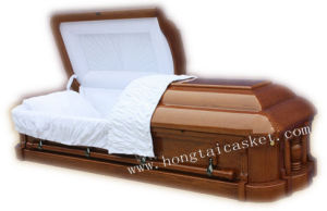 Solid Ash Wood Casket for Funeral (HT-0701)
