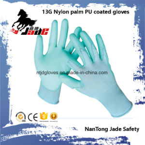 Hot Sales 13G Nylon Palm PU Coated Work Glove pictures & photos