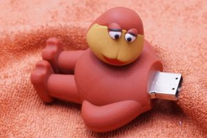 Lovely Rubber Cartoon Character Shape USB Flash Drive pictures & photos