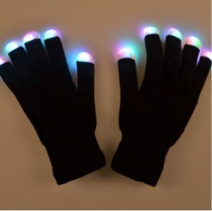 Black Cotton Material Keep Warm LED RGB Flashing Gloves pictures & photos