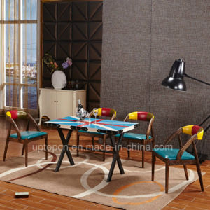 Stationary Rectangle Wooden Restaurant Table for Colorful (SP-RT543) pictures & photos